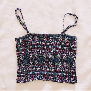 Pacsun Cropped Smocked Tank Top